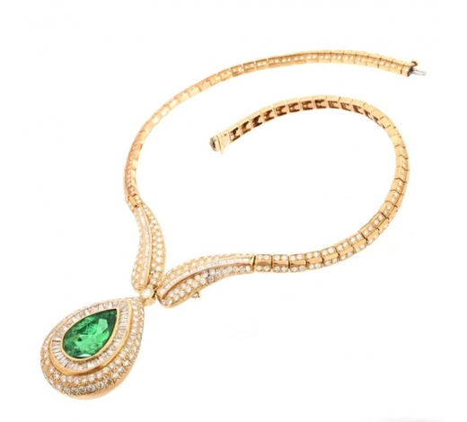 Kodner GalleriesImportant Emerald, Diamond and 18K Necklace