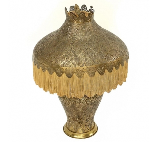 Kodner GalleriesAntique Pierced Brass Moorish Lamp