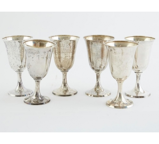 Revere AuctionsSet 5 International Sterling Silver Wine Cups
