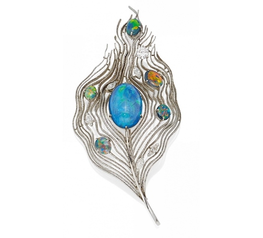 Van Ham Fine Art AuctionsOpal-Diamond-Brooch  BALTENSBERGER PIERRE13041927 Rüschlikon - 01051999 Erlenbach