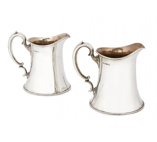 RoseberysA pair of silver jugs
