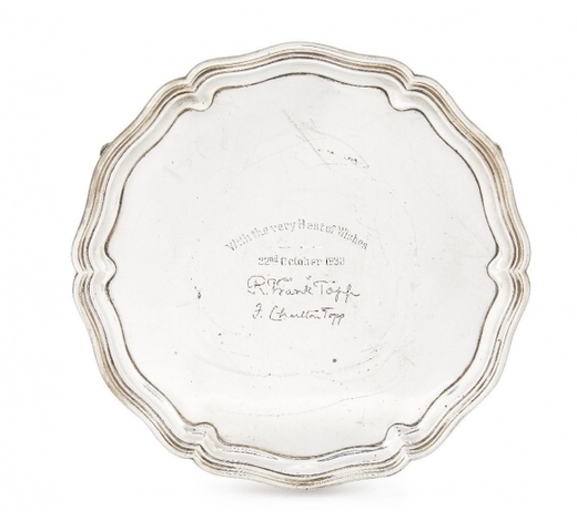 RoseberysA silver salver