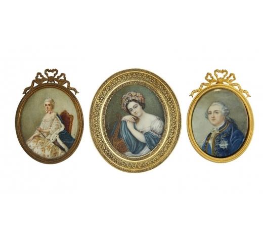 RoseberysA portrait miniature of Louis XVI