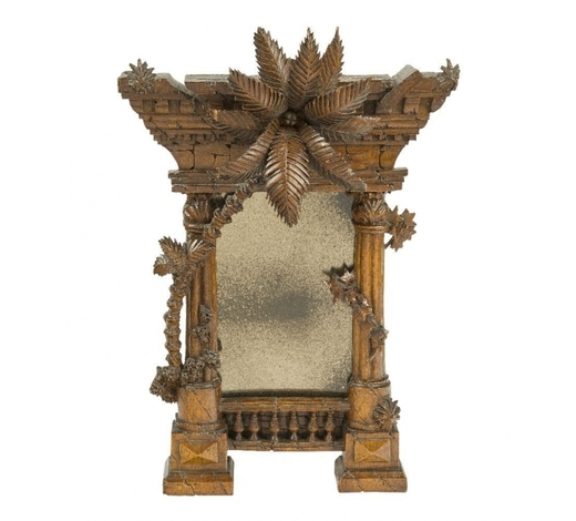 RoseberysAn Italian carved walnut mirror modelled as a classical ruin