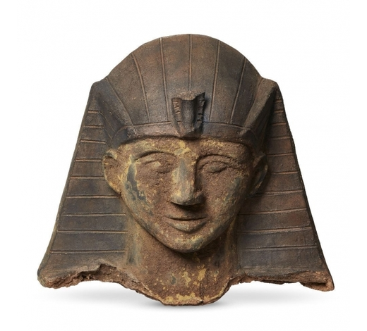 RoseberysA Continental fragmentary terracotta head of a pharaoh