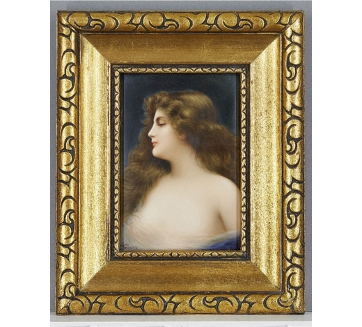 RoseberysA German KPM style porcelain plaque