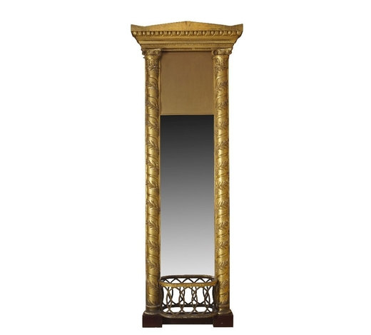 RoseberysA monumental North German architectural gilt and gesso mirror