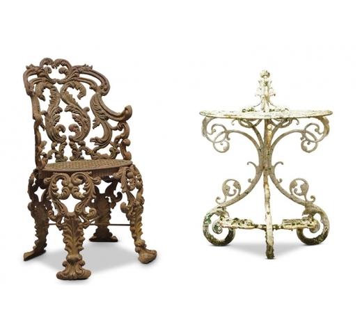 RoseberysA late Victorian cast-iron chair