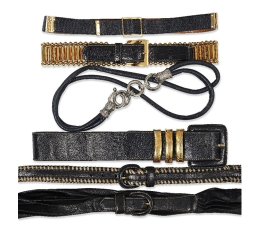 RoseberysA collection of four Gianfranco Ferre leather belts