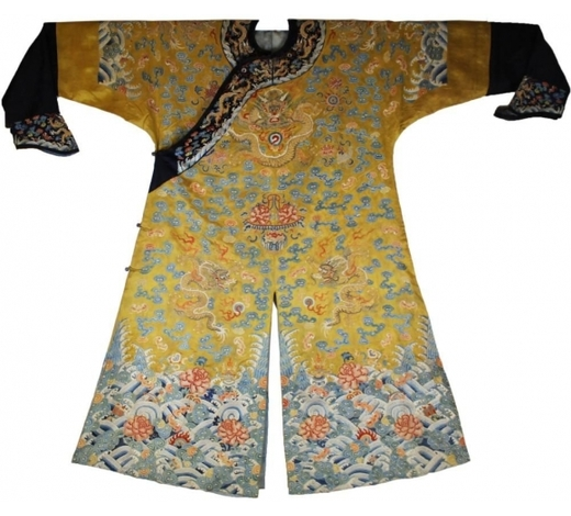 Madison Square Gallery Inc.Qing Dyn. Imperial Silk Embroidered Dragon Robe