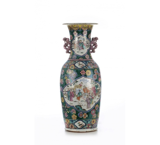 HannoVerum GmbhPolychrome Bodenvase. China, späte Qing-Dynastie