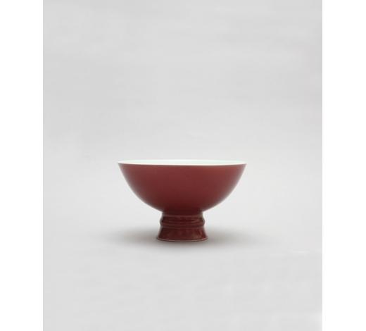 Duton's清乾隆 霁红釉高足碗 A coper -red -glazed stem -bowl , Qianlong seal mark and of the period