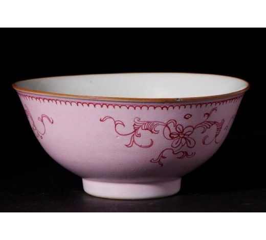 Turner Auctions and Appraisals LLCA PINK-GROUND PORCELAIN BOWL
