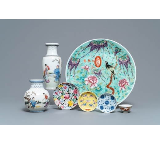 Rob Michiels AuctionsA varied collection of Chinese porcelain, Qing and Republic, 19/20th C.