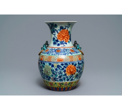 Rob Michiels AuctionsA Chinese doucai 'peony' vase, 19th C.