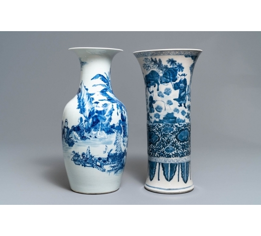 Rob Michiels AuctionsTwo Chinese blue and white vases, 19th C.