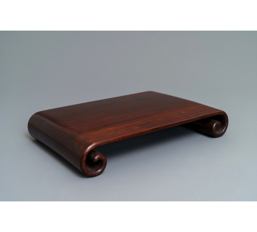 Rob Michiels AuctionsA Chinese carved hardwood stand, 19th C.