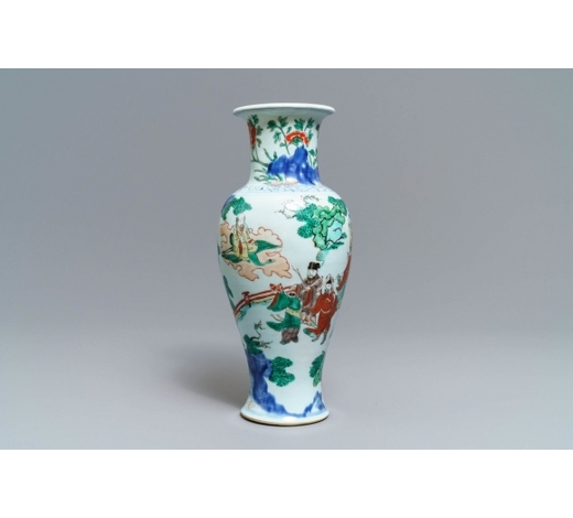 Rob Michiels AuctionsA Chinese wucai 'immortals' vase, Transitional period