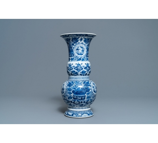 Rob Michiels AuctionsA Chinese blue and white vase with floral design, Kangxi