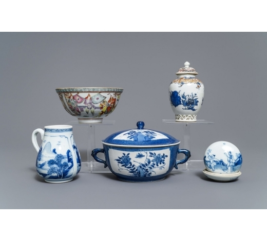 Rob Michiels AuctionsA varied collection of Chinese blue and white and famille rose wares, Kangxi and later