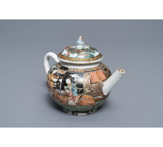 Rob Michiels AuctionsA Chinese famille rose teapot with circular design all-round, Yongzheng