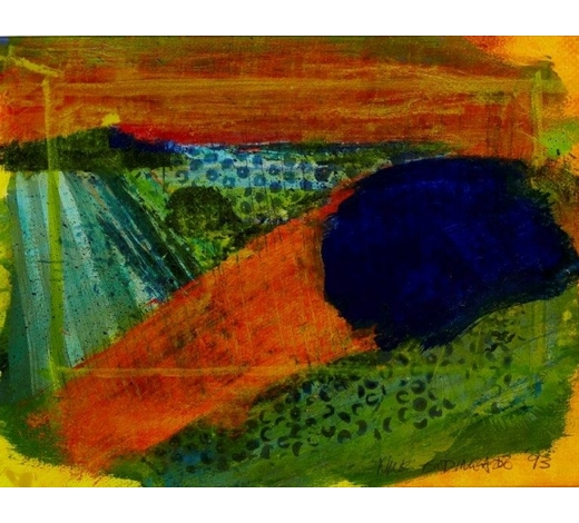 RoseberysNick Bodimeade,  British b.1957-   Untitled, from the Sussex Landscape Series, 1993;   mixed media on paper, signed and dated in pencil, 27 x 39.5cm (ARR)   Note: the artist has kindly confirmed the authenticity of this work