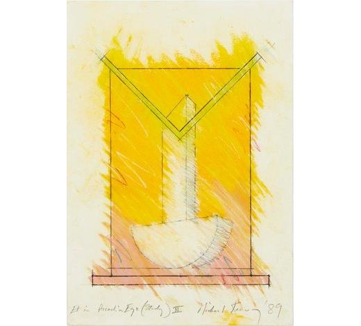 RoseberysMichael Kenny RA, British 1941-1999-  Untitled I, & Et In Arcadia Ego (Study) II, 1989;  mixed media on paper, two, each signed, titled, and dated, 29x39cm and 36x25cm respectively, (2)(ARR)  Provenance: gifted by Susan Kenny, the artist's widow, to the present owner