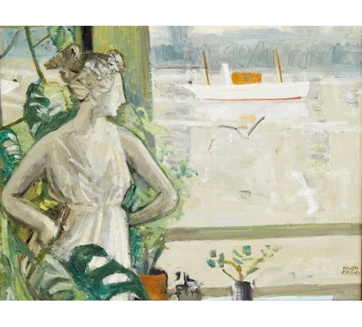 RoseberysHugh Verschoyle Cronyn,  British 1905-1996-  Flora by the Water;  oil on canvas, signed, 40.5x51cm (ARR)