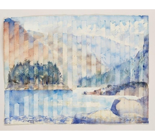 RoseberysDerek Dalton, British b. 1929-  Thirlmere Slots;   watercolour on textured paper, signed, titled and dated indistinctly, 57 x 75.7cm, (mounted/unframed) (ARR)