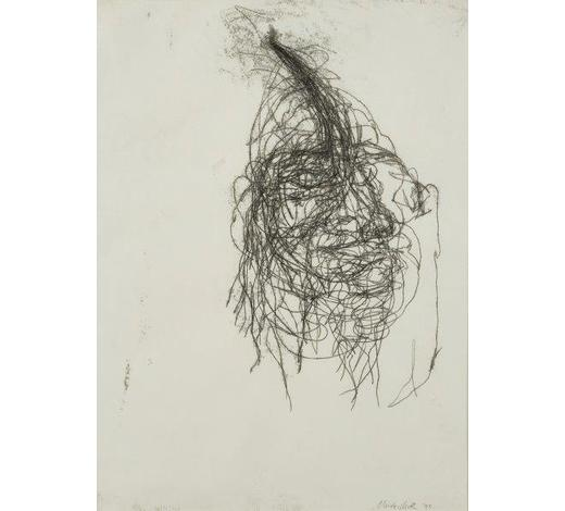RoseberysClaude Heath, British b. 1964-  Untitled, 1995;  monotype, signed, dated and inscribed, 60x44cm (ARR)