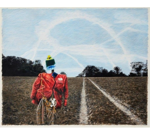 RoseberysBoyd & Evans, British b. 1944/1945-  Scarecrow, 1990;   pencil on paper, 66 x 91 cm (ARR) (VAT charged on hammer price) Provenance: with Flowers Gallery, London