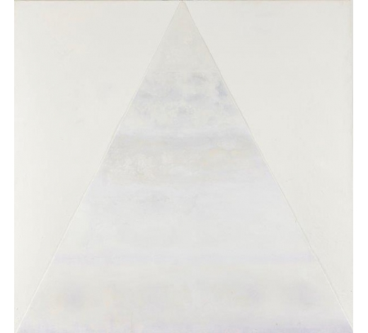 RoseberysDerek Hirst, British 1930-2006-  White Mountain, 1986;  cryla on panel, signed, titled and dated on the reverse, 120x122cm(unframed) (ARR)   Provenance: with Flowers Gallery, London