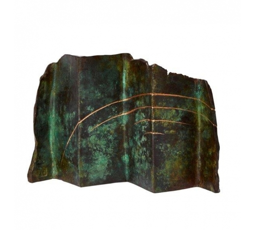 RoseberysCarole Hodgson FRSS, British b,1940-  Untitled, 1986;  bronze with green patina, bears artists initials and dated, 13 x 18 x 5 cm (ARR)  Provenance: with Flowers Gallery, London