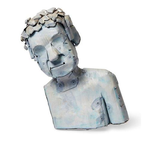 RoseberysNeil Jeffries RA, British, b.1959-  Self Portrait, 2000; painted aluminium, signed and dated in pencil, 25 x 14 x 14 cm (ARR)  Provenance: with Flowers Gallery, London