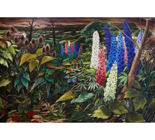 RoseberysJonathan Waller,  British b.1956-  Spikes, 1991-93  oil on canvas, signed on the reverse, 210 x 305 cm (unframed) (ARR)(VAT charged on hammer price) Provenance: with Flowers Gallery, London