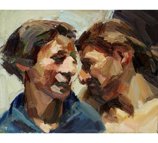 RoseberysTai-Shan Schierenberg, British b.1962-  Girlfriends, 1992;  oil on canvas, signed, dated and titled to the reverse, 35.5x46cm, (ARR) Provenance: with Flowers Gallery, London