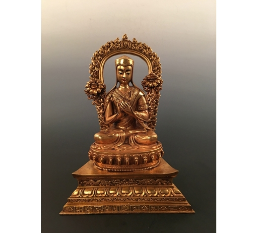 Fox Wood Auctioneer IncChinese Gilt Bronze Buddha Statue