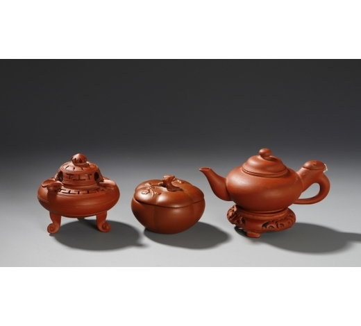 Cloudswood AuctionThree Yixing Teapots