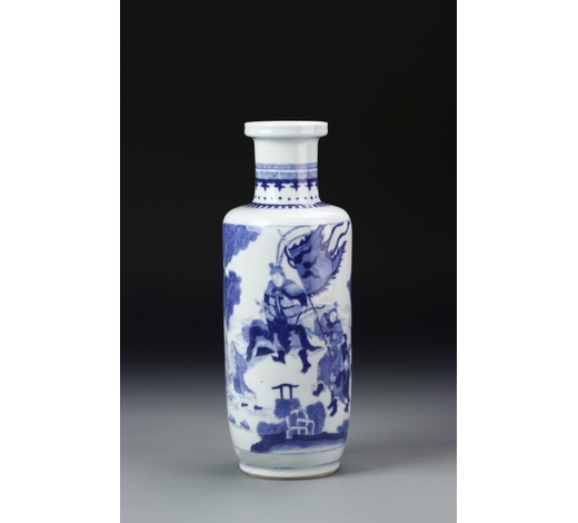 Cloudswood AuctionChinese Blue and White Rouleau Vase