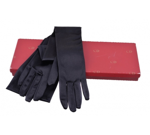 DreweattsA pair of black nylon evening gloves