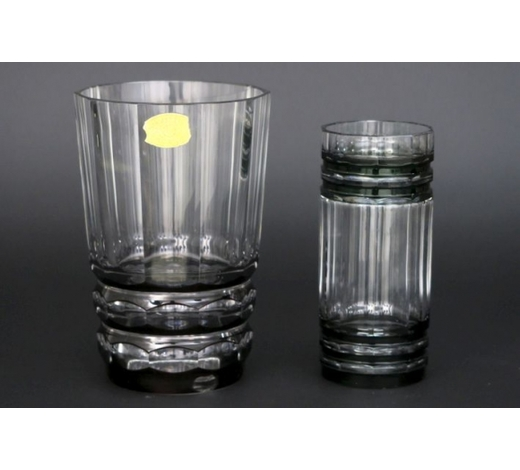 DVC2 Belgian Art Deco vases in crystal VSL