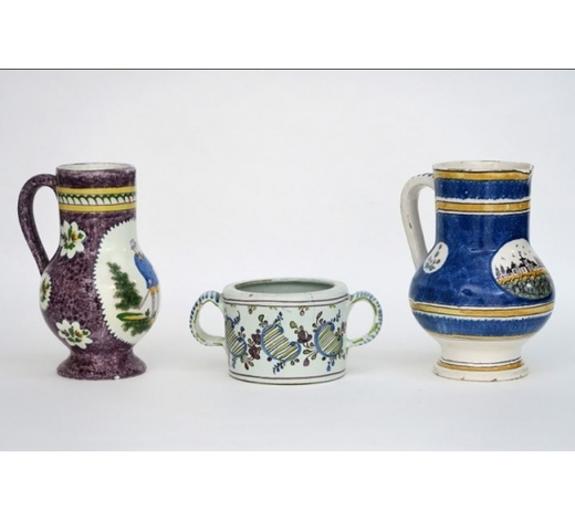 DVCtwo beerjugs from Brussels and a French butterpot in ceramic