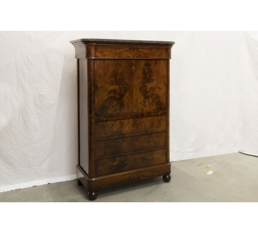 DVC19th Cent. bureau in mahogany with a marble top