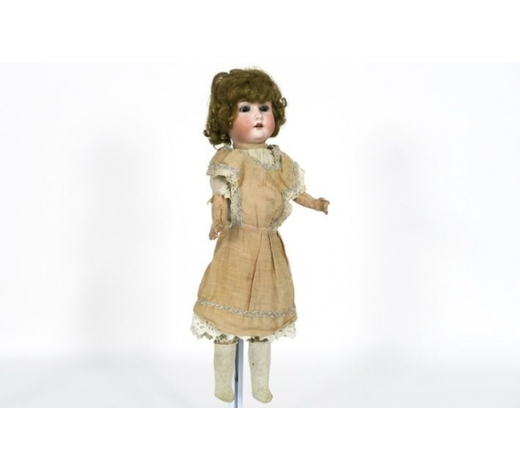 DVCantique Heubach Koppelsdorf doll with porcelain head - marked and signed