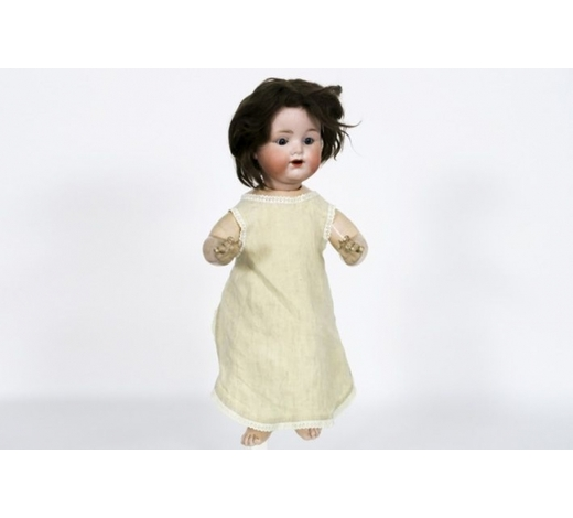 DVCantique  Armand Marseille baby doll with porcelain head - marked and signed