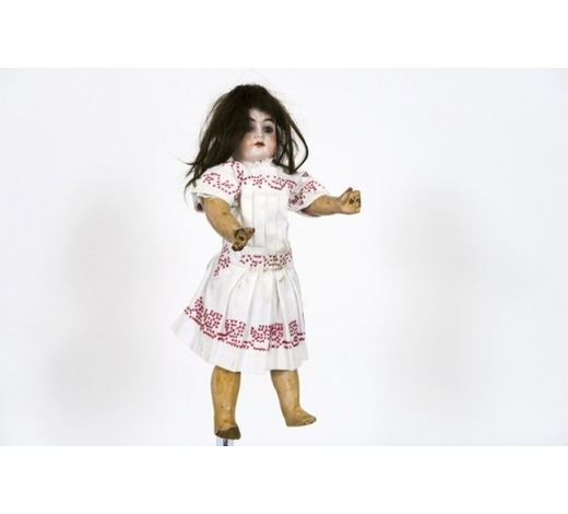 DVCantique doll with porcelain head - marked