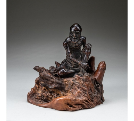 Wealthier Art Auctioneer Inc19th Chinese Antique Wood Luohan