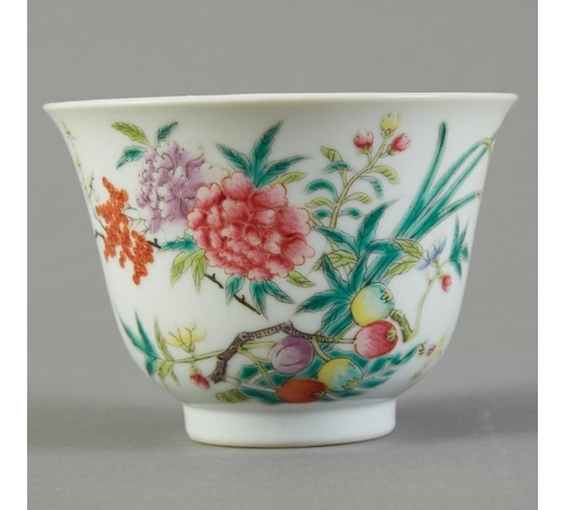 Revere AuctionsChinese Famille Rose Porcelain Cup - Marked
