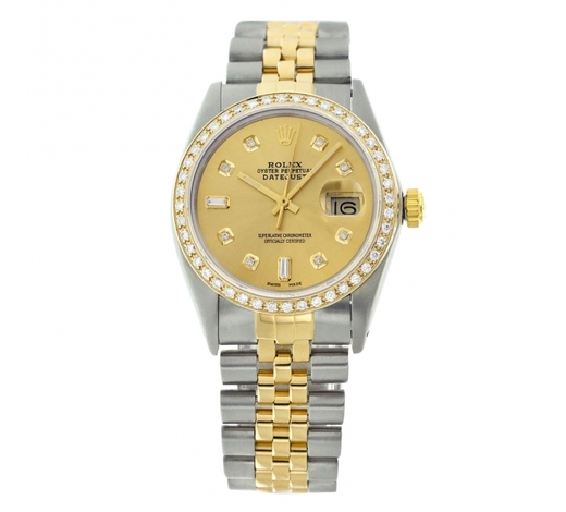 World Jewelry AuctionsRolex Pre-owned 36mm Mens Champagne Two Tone - REF-610H2N