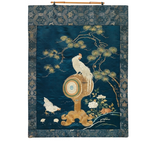 Bonhams EnglandA fine silk embroidery of a rooster